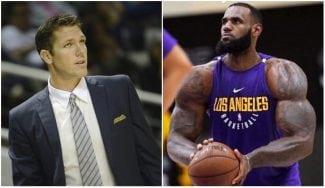 ¿Jugará LeBron de pívot? James bromea sobre su papel en los Lakers