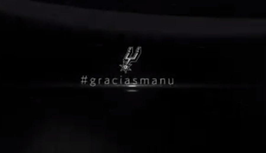 El medio minuto con el que los Spurs resumen la carrera de Manu Ginóbili