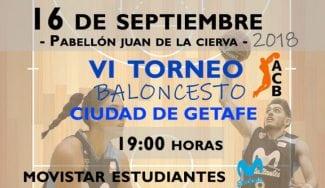 El 'VI Torneo ACB Ciudad de Getafe' acoge de nuevo el mejor baloncesto
