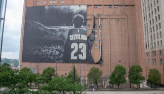 Los Cavs ya tienen sustituto para el póster de LeBron en las calles de Cleveland