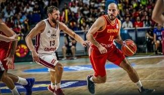 España sufre para ganar a Letonia