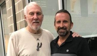 La visita de Joan Plaza a Gregg Popovich y Brad Stevens en Estados Unidos
