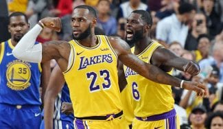 Los Lakers de LeBron ganan el primer choque ante los Warriors