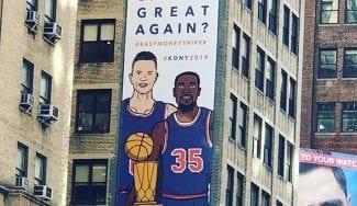 Un anuncio en Nueva York para atraer a Kevin Durant