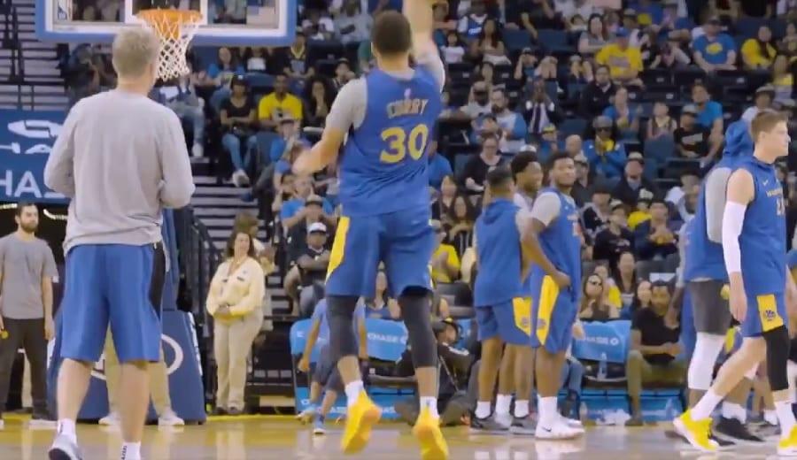 El tiro más difícil de Stephen Curry también acaba dentro
