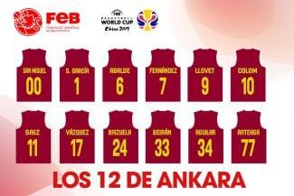 España ya tiene sus 12 jugadores para enfrentarse a Turquía