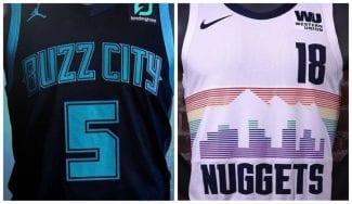 Los Charlotte Hornets y los Denver Nuggets estrenan uniformes