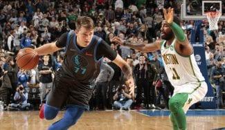 Doncic también desquicia a los Celtics: baile a Irving, pique con Brown y victoria