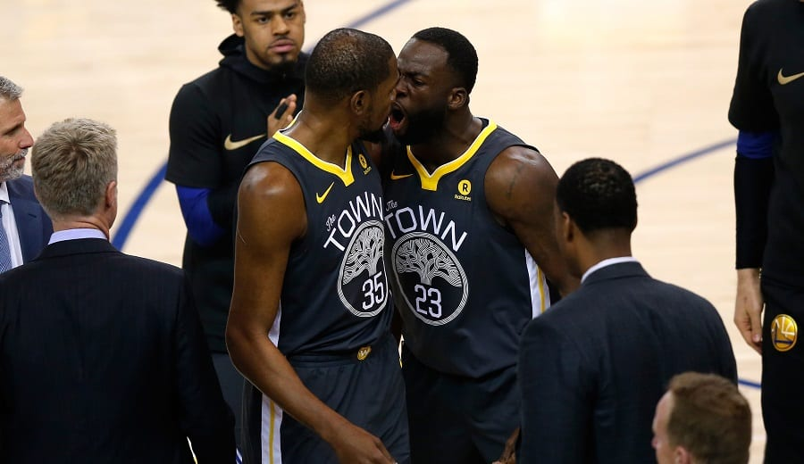 Los Warriors pierden y vuelve la tensión entre Draymond Green y Kevin Durant