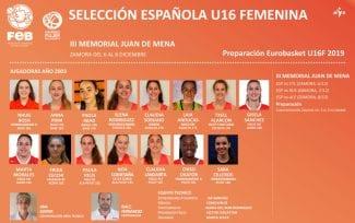 FEB: 15 jugadoras para el III Memorial Juan de Mena