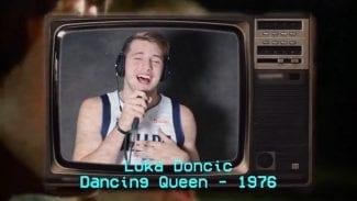 Luka Doncic, mejor con el balón que con el micrófono: así destroza ABBA