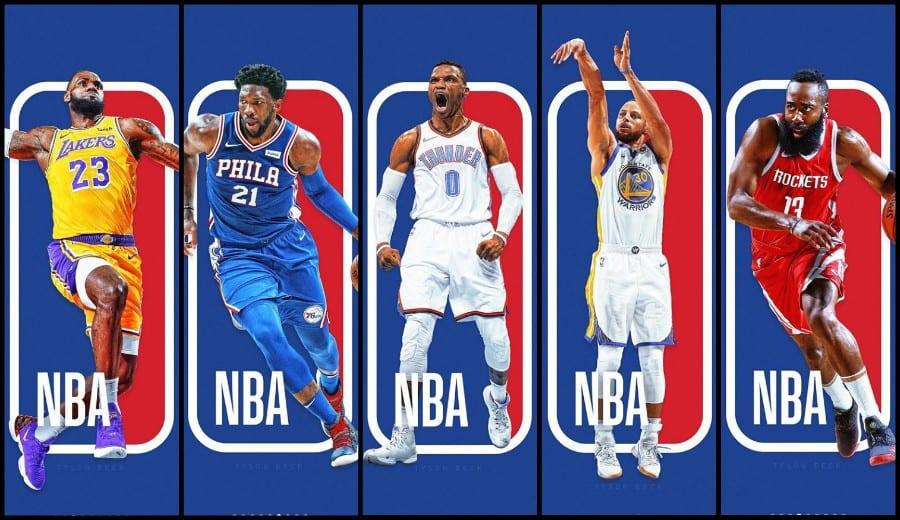 ¿Cómo sería el logo de la NBA con las estrellas actuales como protagonistas?