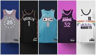 Explosión de color en los uniformes City Edition de la NBA