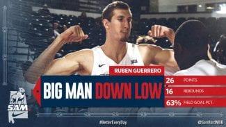El marbellí Rubén Guerrero se sale en la NCAA: invicto y doble-doble