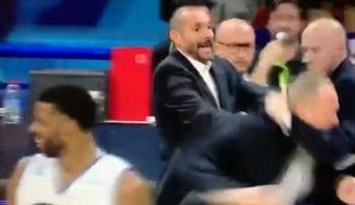 ¡Inaudito! Empujones y agarrones entre entrenadores en la LNB francesa