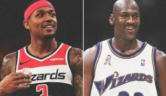 Bradley Beal se pone a la altura de Michael Jordan