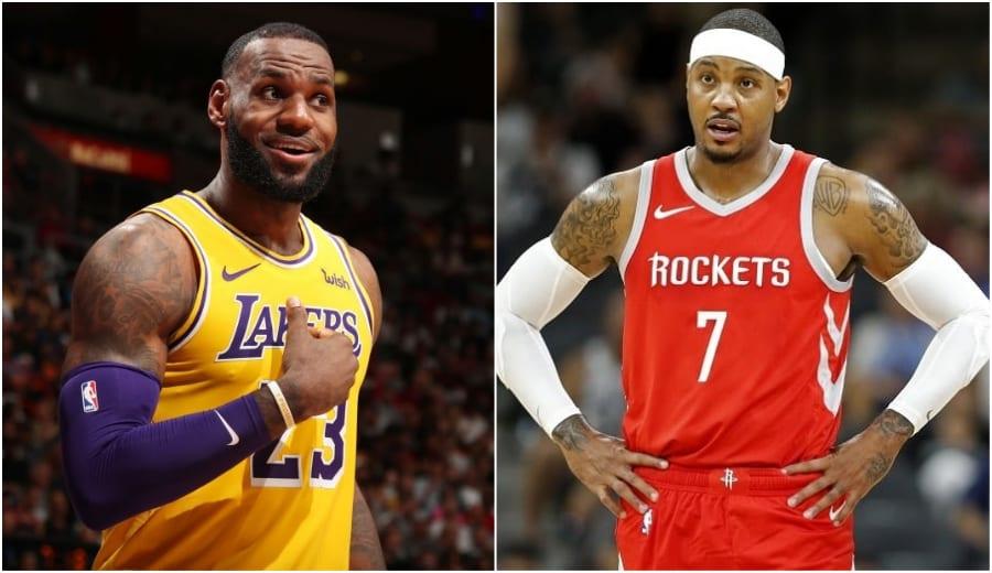LeBron James le abre la puerta de los Lakers a Carmelo Anthony