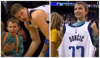 Bonito gesto de Luka Doncic con un niño al que arrolló