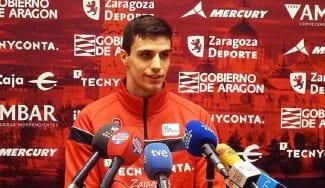 La primera rueda de prensa del prometedor Carlos Alocén: «Me siento cómodo»