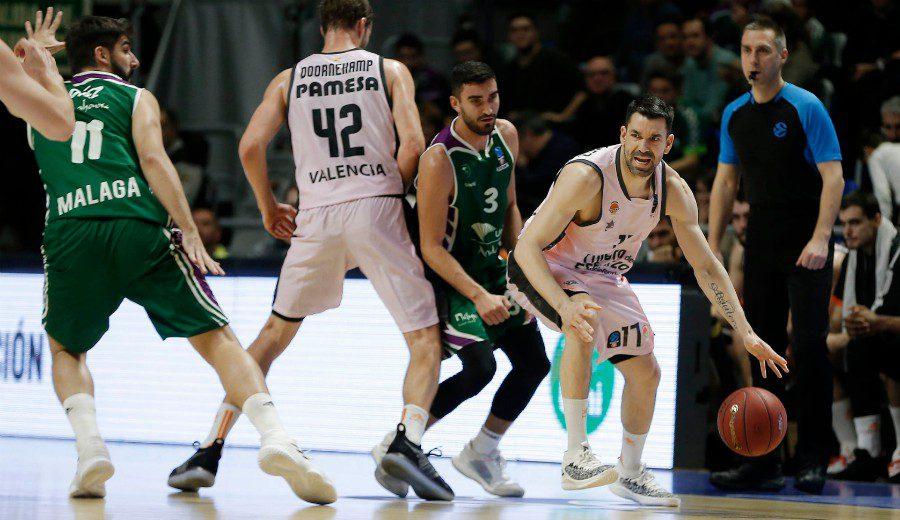El Valencia Basket remonta para ganar al Unicaja en la Eurocup