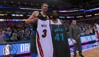Dwyane Wade y Dirk Nowitzki, dos leyendas y respeto mutuo