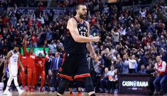 El debut de Marc Gasol en Toronto con los Raptors: público en pie y victoria