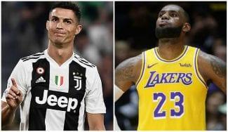LeBron James es menos famoso que Cristiano Ronaldo