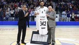 Felipe Reyes bate a Navarro por el récord de partidos jugados en la Euroliga