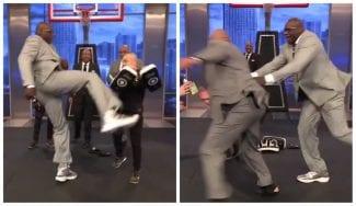 Shaquille O'Neal atemoriza a Charles Barkley en televisión