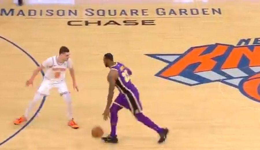 El tapón ganador de Mario Hezonja a LeBron James en el Knicks-Lakers