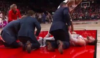 Una terrible lesión de Jusuf Nurkic en su mejor día enmudece a la NBA
