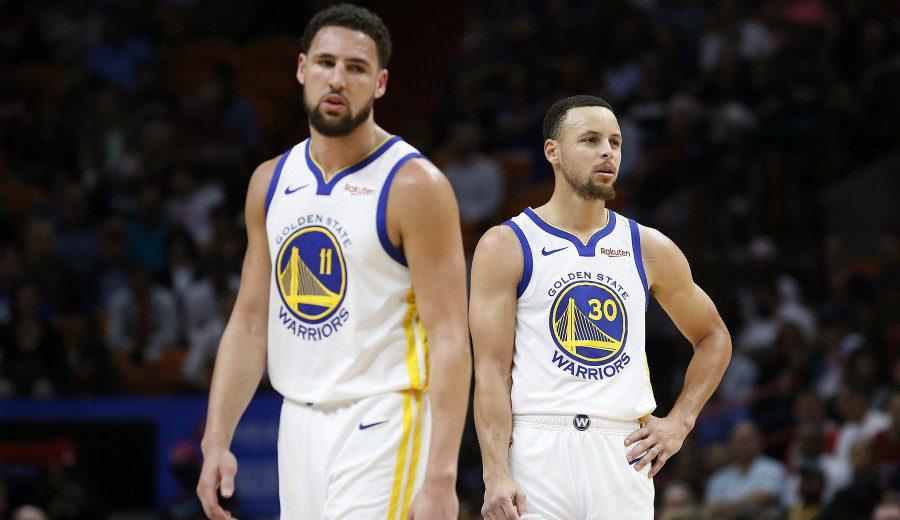 Curry y Thompson, dudas para el estreno de la serie ante los Rockets
