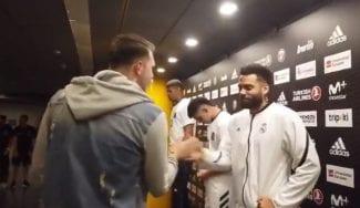 Doncic, integrado como uno más del Madrid en el partido ante el PAO