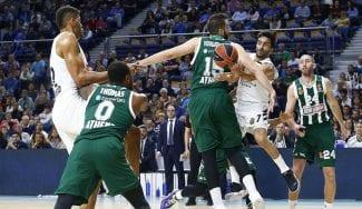 El Madrid gana con claridad al Panathinaikos y roza el pase: estelar Campazzo