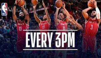 Los Rockets baten de nuevo el récord de triples en un partido de la NBA
