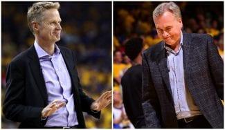 Kerr se muestra satisfecho con la victoria. D'Antoni, destrozado