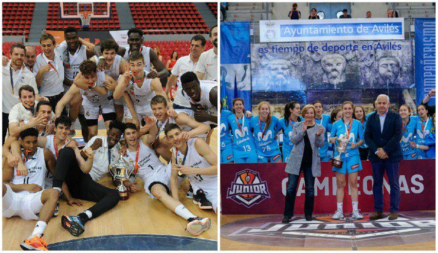 Real Madrid y Movistar Estudiantes, campeones en los Campeonatos de España Junior