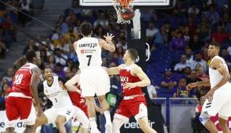 El Madrid gana con contundencia al Manresa y se acerca al récord del 'playoff'