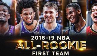 Sin sorpresas en el Quinteto de Novatos de la NBA: Doncic entra por unanimidad