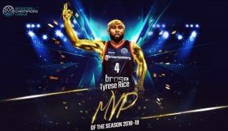 Tyrese Rice, MVP de la Champions League; Abromaitis, en el Quinteto Ideal