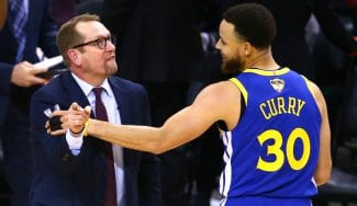 Pique verbal entre Stephen Curry y Nick Nurse