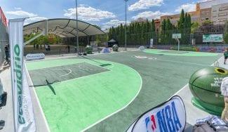 Ecovidrio y NBA ponen al servicio de los madrileños una pista de vidrio reciclado