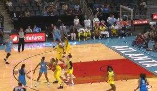 El triple con el que la española Maite Cazorla debuta en la WNBA