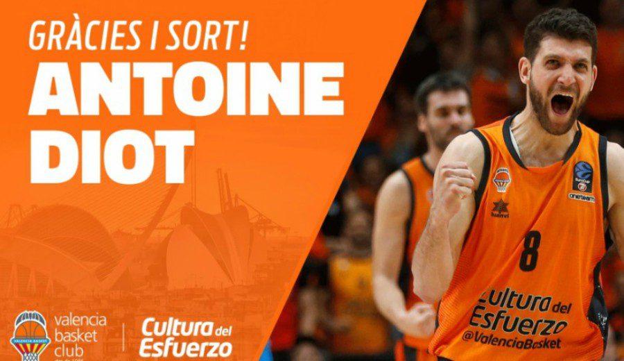 Valencia dice adiós a Antoine Diot tras cuatro años en la Fonteta
