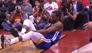Kevin Durant vuelve, se rompe y se lesiona el tendón de Aquiles
