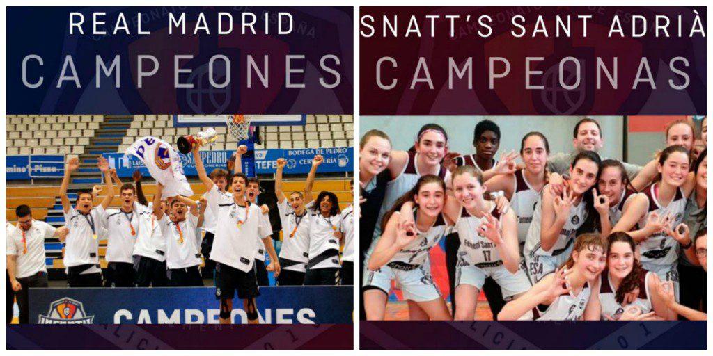 Real Madrid y Sant Adrià, campeones de los Campeonatos de España Infantiles