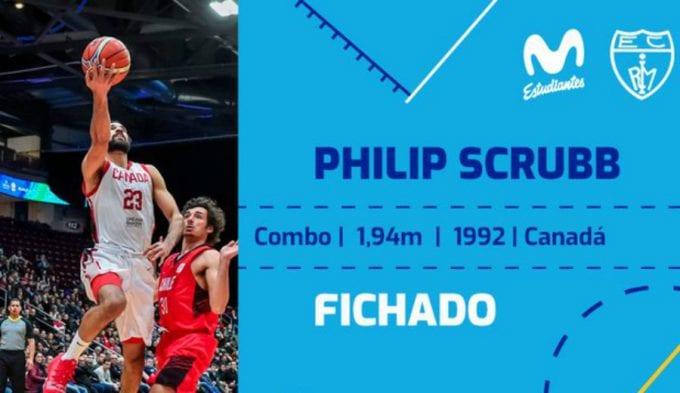 Phillip Scrubb ficha por una temporada con el Movistar Estudiantes