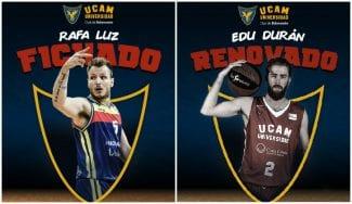 El UCAM Murcia se mueve: fichaje de Rafa Luz y renovación de Edu Durán