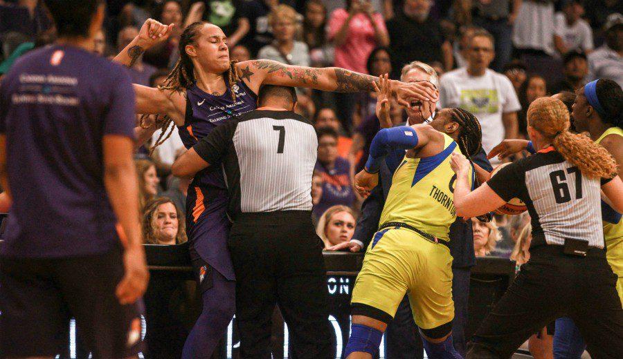 Brittney Griner espera sanción tras protagonizar una pelea en la WNBA