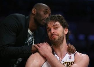 Amistad eterna: Pau Gasol felicita a Kobe, y le llama «G.O.A.T.»
